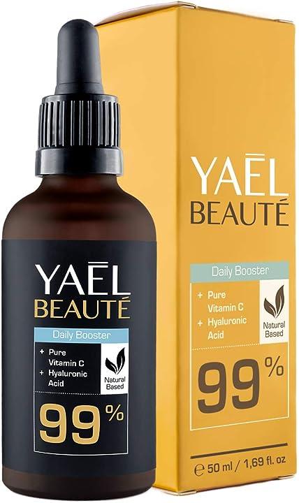 Siero viso con vitamina c e acido ialuronico ? anche per contorno occhi e dermaroller  yael beauté 4260495660097