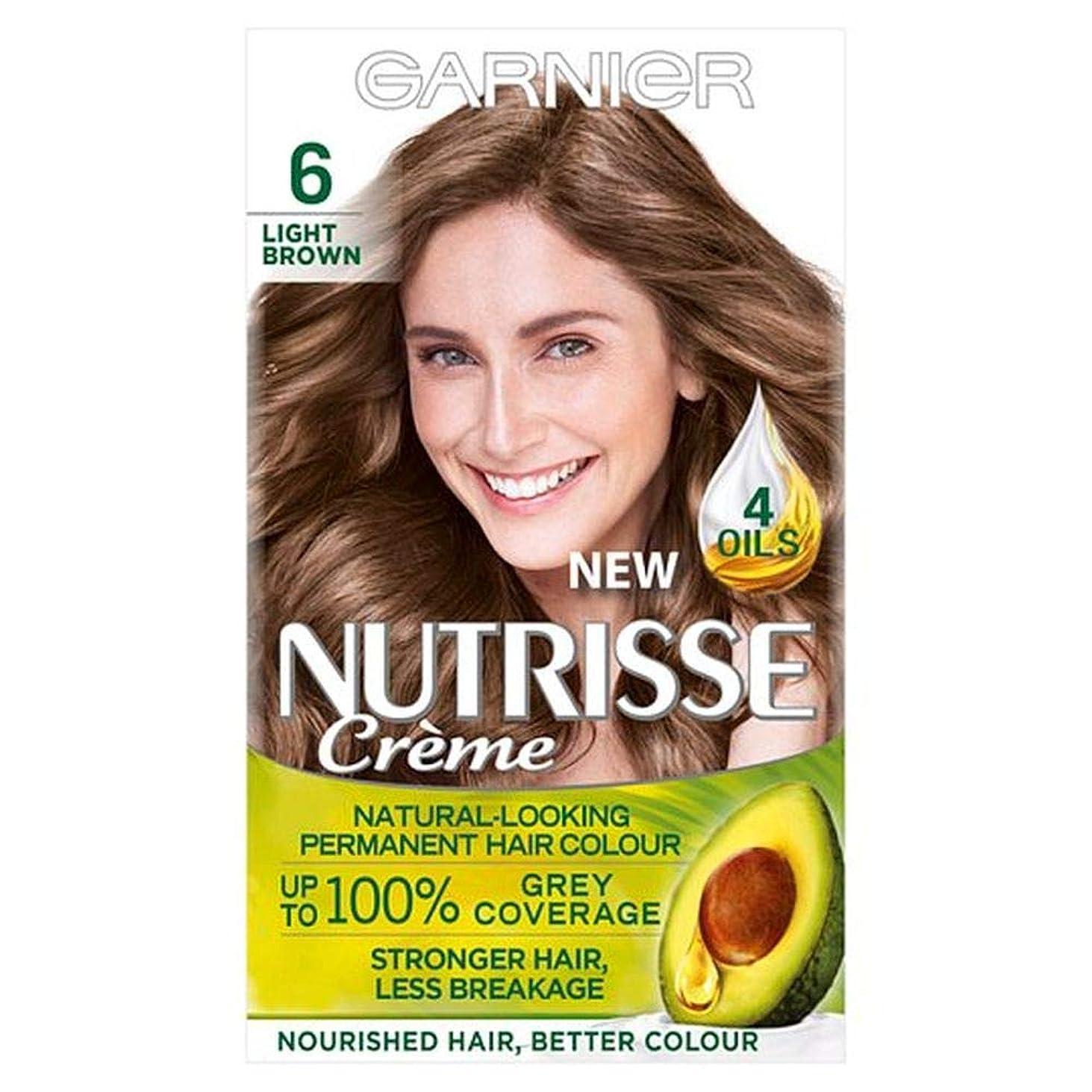 テレマコス何よりも火[Nutrisse] ガルニエNutrisse 6ライトブラウンパーマネントヘアダイ - Garnier Nutrisse 6 Light Brown Permanent Hair Dye [並行輸入品]