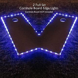 Cornhole Edge Lights Kit (Set of 2), Original Ultra Bright LED Corn Hole Board Night Light, Multi Color Options, Long Lasting Great Bean Bag Toss Game Light for Tailgates Backyard/Lawn Wedding BBQ