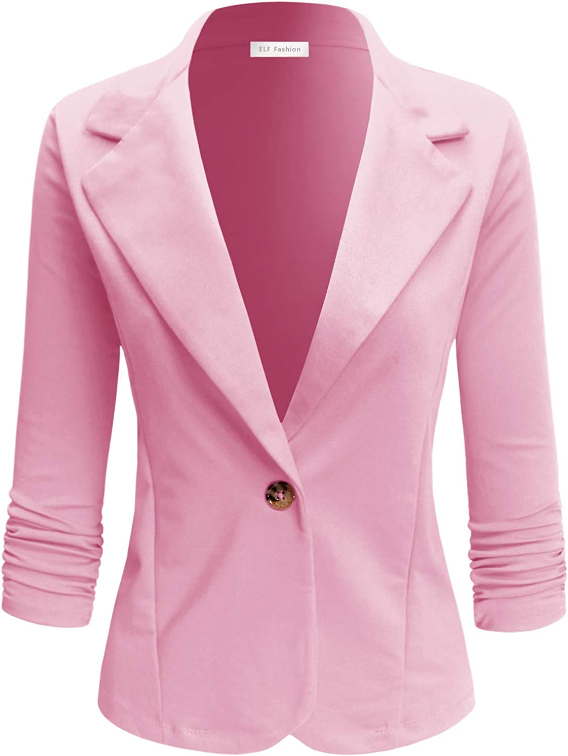 Ultra-Cheap Deals ELF FASHION Womens Casual Work Office with Plus Blazer Si discount Jacket