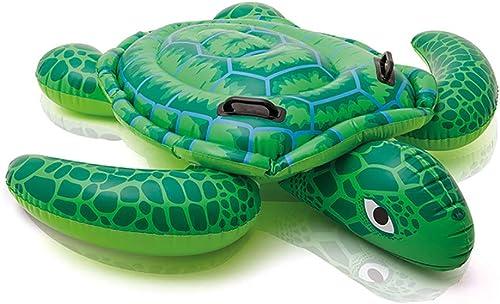 BAIYI Schwimmring Big Turtle Riding Inflatable Riding Kinder und Erwachsene Water Swimming Boat Seat
