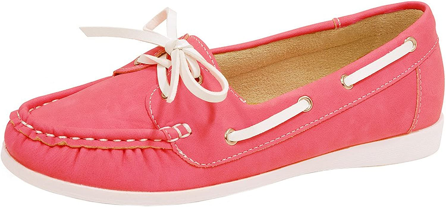 Spicy Women's F813 Slip-On Lace-up Moccasin Loafer Driving Boat shoes