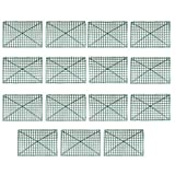 Mettoo Grid Plant Wall Frames, 15pcs Air Plant Holder | Plastic Frame for Flowers and Plants Wall Arches Backdrop, DIY Arches Decoration Craft Frame Row Shelf for Wedding Background Decoration