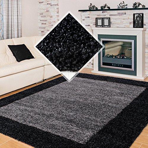 Carpet 1001 hoogpolig hoogpolig woonkamer shaggy tapijt 2 kleuren antraciet grijs - 100x200 cm