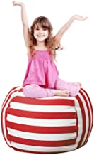 Stuffed Animal Storage Bean Bag Chair Cover for Kids Room, Stuff and sit Storage Bean Bag for organizing Boys and Girls Pl...