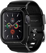 Spigen Rugged Armor Pro Designed for Apple Watch Band with Case for 40mm Series 6/SE/5/4 - Black