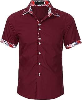 Men's Shirt Short Sleeve Button Down Casual Work wear Shirt Hawaiian Beach Party Tanks T-Shirt Tops