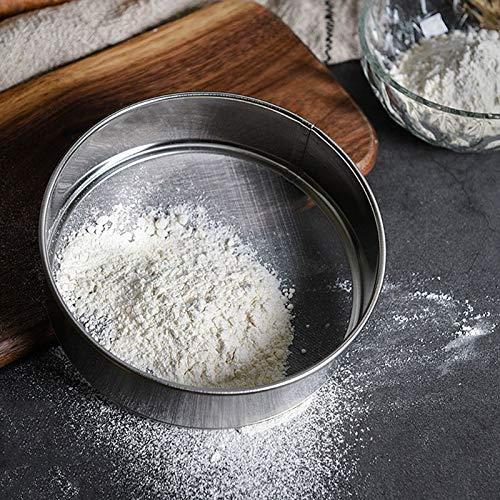 Ölsieb aus Edelstahl, feines Netz, Mehlsieb, Sieb für Kuchen, Backen, Kochen, Küchenwerkzeug