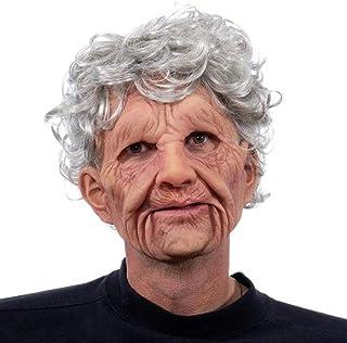Per Pet ハロウィン 変装仮面 リアル 人面 お年寄り 変装 お面 かぶりもの コスプレ小物 仮装マスク おばあちゃん おじいさん コスプレ ハロウィーン恐怖 ハロウィン パーティー