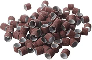 anelli di carta vetrata Powertool 100 manicotti abrasivi con 2 mandrini lucidatura legno strumento di lucidatura per la rimozione della ruggine di metallo