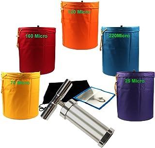 CASOLLY 5 Gallon 5 Bags 600D Bubble Hash Bag Herb Extractor Ice Bags W/Pollen Press
