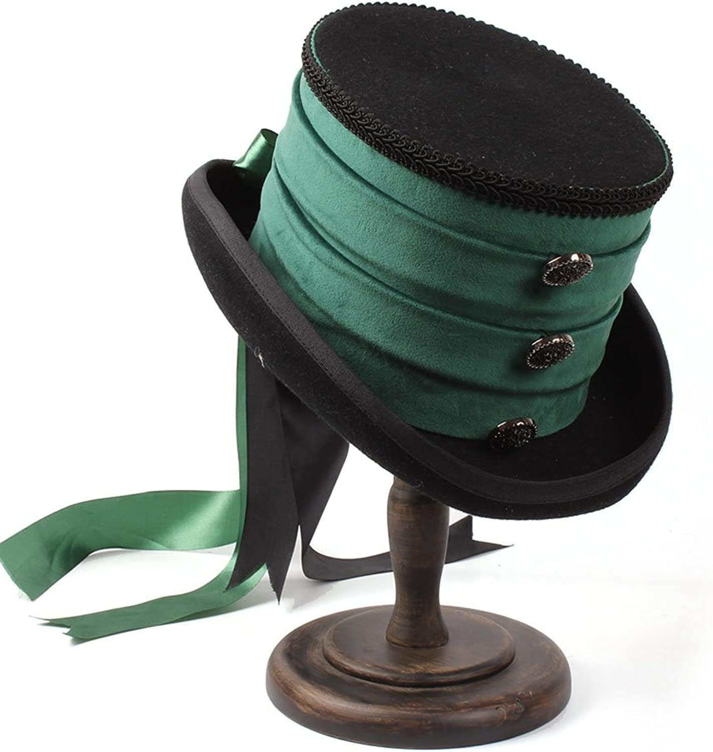 a3b41af6f21f90 Chapeau ZI LING Victorian Raven Green Top Hat Wedding Hat Ribbon Creative  Personality Hat Steampunk SHOP- npfidt2814-Sporting goods