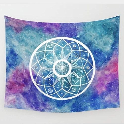 AITU Tapestry Polyester Chambre Cloison Tapisserie Camping Matelas Nappe Yoga Tapis Salon Chambre Tenture Décoration pour La Maison