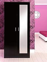 Black Gloss Bedroom Furniture Set Chest Wardrobe Dressing Table Bedside Cabinet
