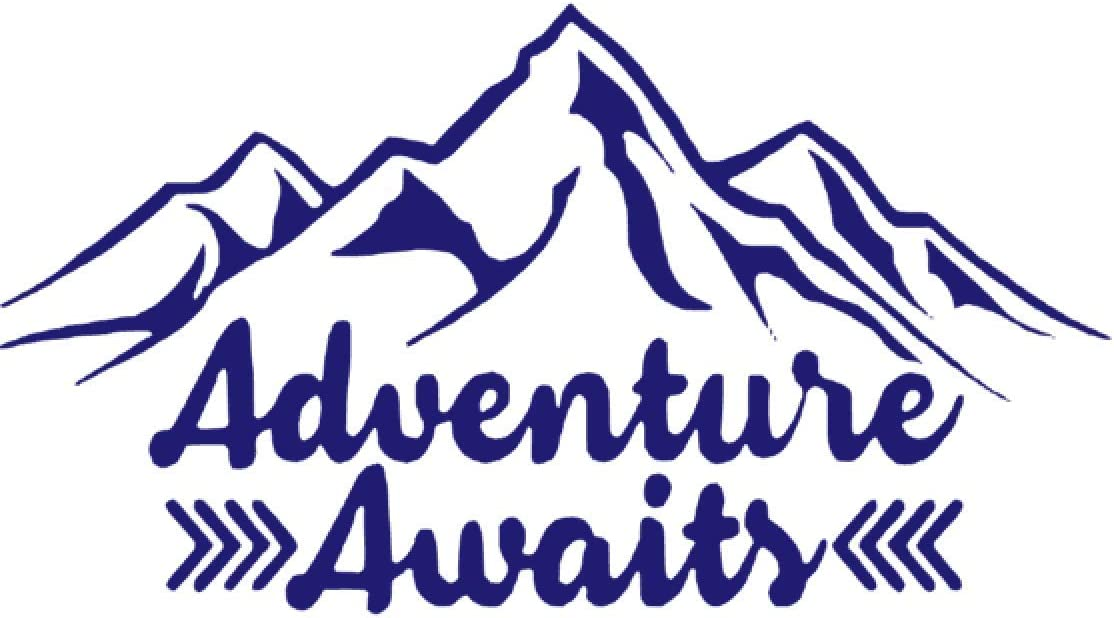 "Silver Creek Hiking Climbing Mountain Camp Car Bumper Vinyl Sticker Decal 4.6/"""