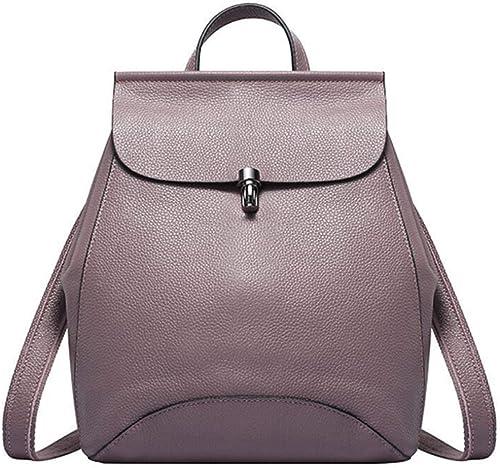 LFF.FF Weißliche Tasche PU Rucksack Damen Schulter Diagonal Tasche Tide Casual Rucksack