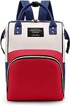 FANDARE Mochilas de Pañales Biberones Bolso del Bebé Mamá Cambio Bebé con Bolsillo Térmico Mochila Bolsa de Escuela Mochilas Casual Bolsos de Mujer Bolsa de Viaje Mochilas Nylon Blanco Rojo