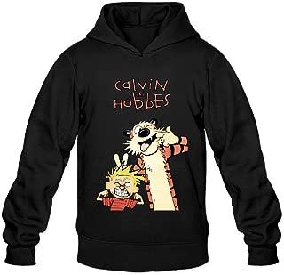 DVPHQ Men's Custom Calvin And Hobbes Sweater Black