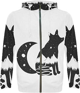 InterestPrint Custom Unique Design Men`s Full-Zip Zipper Hoodies Sweatshirt