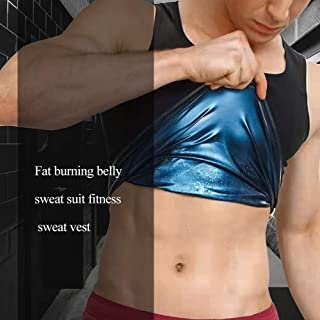 GHJKL Sport Shaping Shirt Sweat Shaper Sauna Vest Fat Burned Tank Weight Loss Shapewear Women Workout Sports Shirt Corset Gym Topmen-XXL/3XL