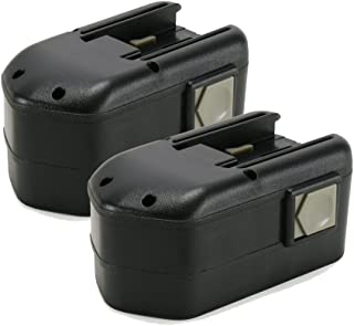 POWERAXIS 48-11-2230 18V 3000mAh NI-MH High Capacity Milwaukee Battery Replacement for Milwaukee 48-11-2200 48-11-2232 Chicago Pneumatic 8940158631(Black)-2 packs