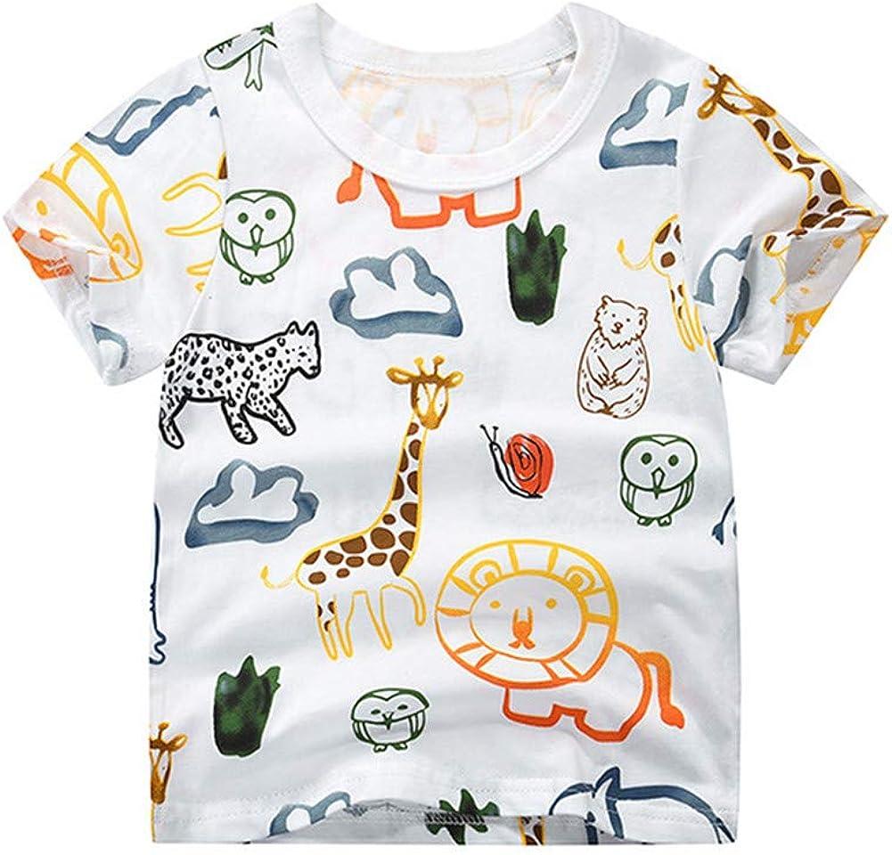 Mud Kingdom Little Boys T-Shirts Cute Cartoon Prints Summer Holiday