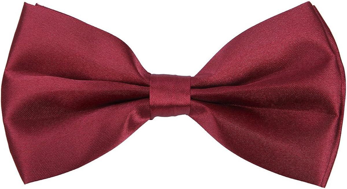 Premium Classic Solid Color Adjustable Tuxedo Neck Bowtie Bow Tie