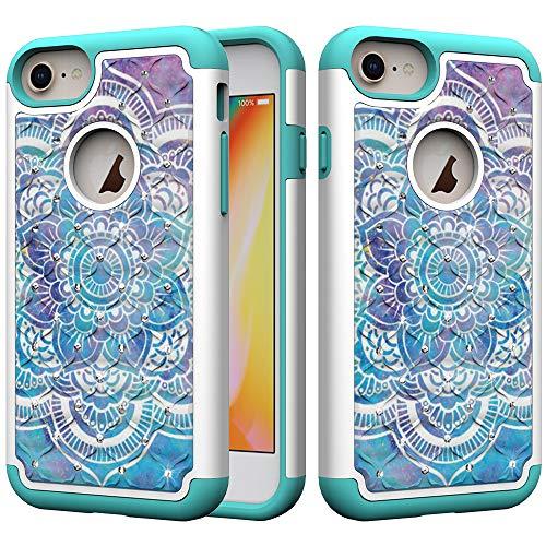 xifanzi - Carcasa para iPhone X/iPhone XS con Purpurina, Mandala, iPhone 6S Plus/iPhone 6 Plus (5.5')