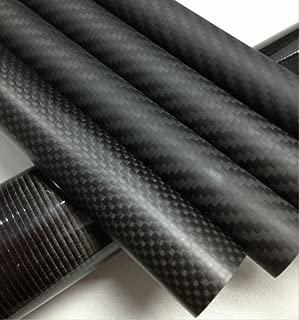 Abester 1 Piece ID 44mm x OD 50mm x 1000mm 3K Carbon Fiber Tube Matt Surface for Landing Gear/Tail Shaft/Wing Tube