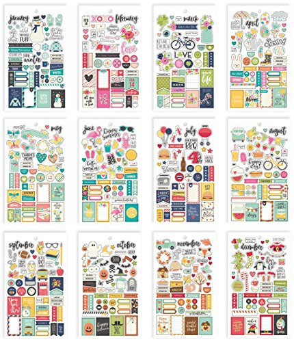 Simple Stories Seizoenen Mini Stickers Tablet, papier, meerkleurig, 17,1 x 10,2 x 0,4 cm