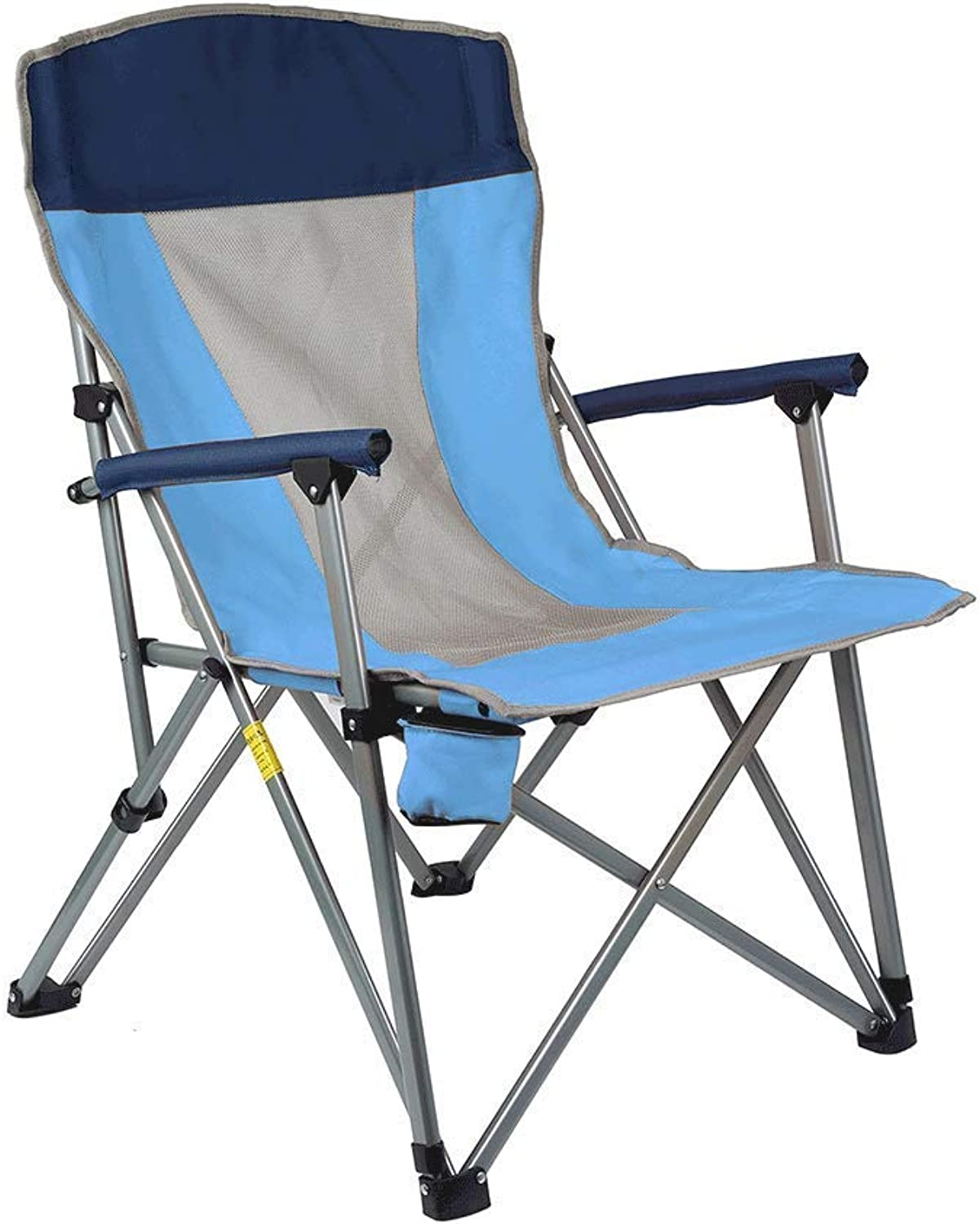 SCJ Folding Stool, Stainless Steel, Waterproof, Thick Mesh, Indoor, Outdoor, Maximum Load Capacity 100Kg (color   bluee)