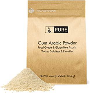 Gum Arabic (Acacia) Powder (4 oz) by Pure Organic Ingredients, Essential Ingredient in DIY Watercolor Paint, Craft Cocktails, Royal Icing, Ice Cream, Confectionary Crafts, and Much More.