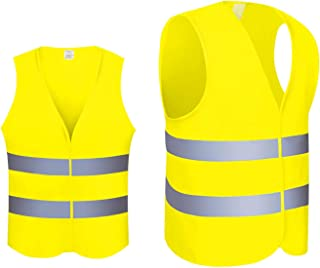 Säkerhetsväst, säkerhetsvästar med hög synlighet lätt nättyg, reflekterande väst för utomhusarbete