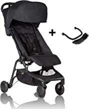 Mountain Buggy Nano Stroller, Black Bundle with Grab Bar & Food Tray – Lightweight, Easy to Assemble and Durable Compact Fold – Ideal for Family Travel