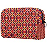 Red1 Makeup Bag, Toiletry/Travel Bag for Brushes Jewelry Accessories Collection, Single Layer Storage Bag for Women