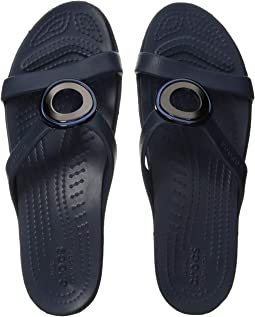 fc296fc52f Crocs sanrah hammered metallic sandal