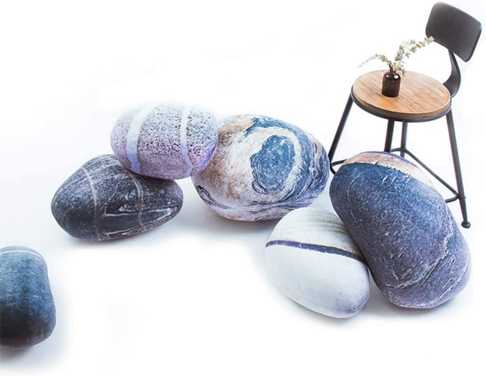 Sheicon 秀逸 Three-Dimensional Curve Realistic Floor Pillows 高価値 C Stones