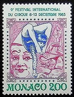 9th Festival International Du Cirque 1983 Monaco -Handmade Postage Stamp Art 0551