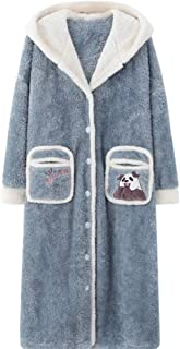 HNBY Adulti Onesies Animali Unisex Inverno Stitch Scheletro squalo Orso Onesies Donna Uomo Costumi Flannel Pajamas Color : Pink Panther Fe, Size : XL