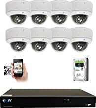 GW 8 Channel 4K NVR 5MP Video Security Camera System - Eight 5MP 1920P Weatherproof 2.8-12mm Varifocal Dome Cameras, 80ft IR Night Vision, Realtime Recording 1080p @ 30fps, Pre-Installed 3TB HDD