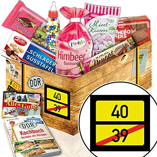 Ortsschild 40 ++ Ostpaket Süß ++ 40. Geburtstag Geschenke
