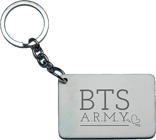 BTS Bangtan Boys Theme Fan Art Printed Rectangle Wodden Keyring Keychain for Bag Wallet Purse HIKBTSKR07