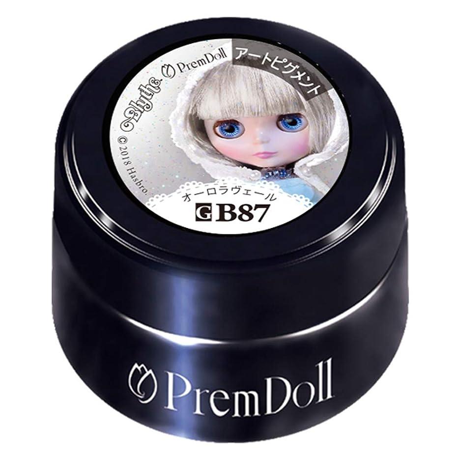 掃く手伝う個人PRE GEL プリムドール オーロラヴェール87 DOLL-B87 3g カラージェル UV/LED対応