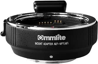 Commlite CM-AEF-MFT(B) Canon EF/EF-S Lens to Micro Four Thirds(MFT,M4/3)Electronic Autofocus Lens Adapter Mount Camera for Panasonic GH4 GH5 Olympu E-M10,E-PL6,E-P5,E-PM2,E-PL5 BMPCC