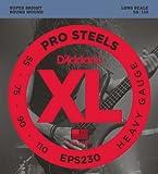 D'Addario Cordes pour basse D'Addario ProSteels EPS230, Heavy, 55-110, cordes longues