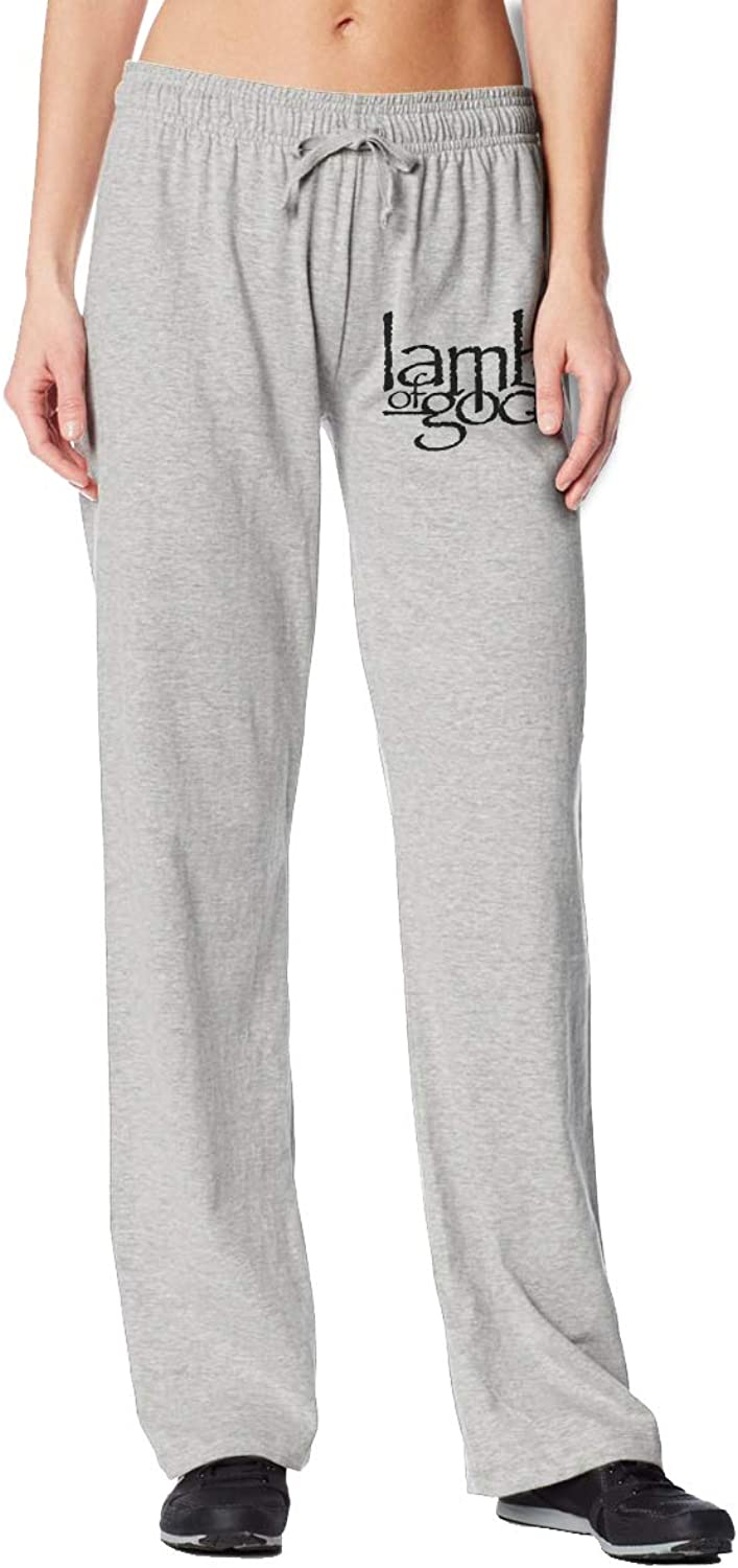 Meamyezz Women's Lamb of God Jogger Stretch Pants with Pockets