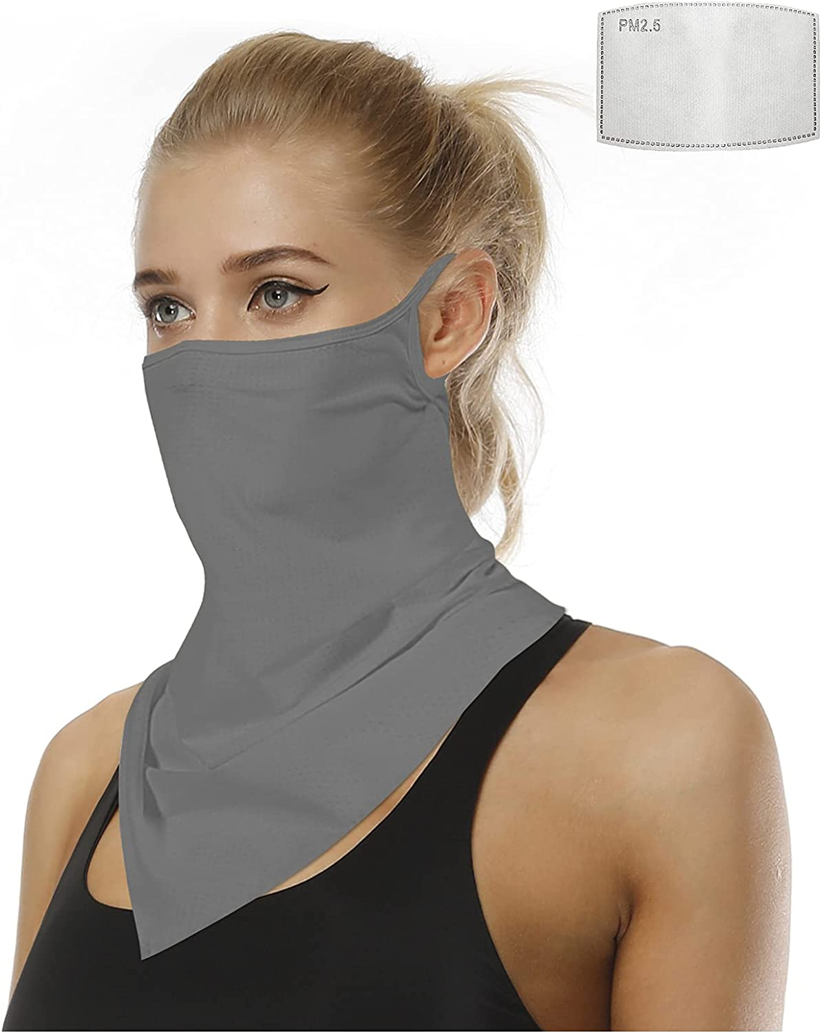 XL Plus Size bandana face mask with filter Teens Neck Gaiter Bandanas Scarf by UniqGarb