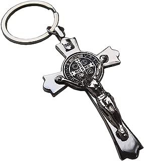 Jesus Crucifix KeyChain Keyring Holy Cross Keychain Faith Religious Catholic Gift