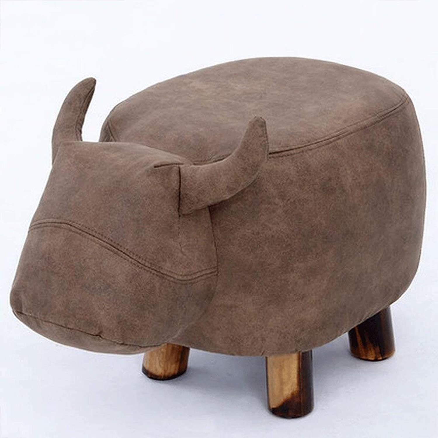 DYR Solid Wood Stool Change shoes Stool Kids Stool Cow Stool Stool Sofa Leather Stool Bench (color  A)