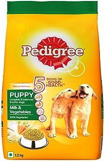 Pedigree Puppy Dry Dog Food Food, Milk and Vegetables, 1.2 kg 1.2kg Pack